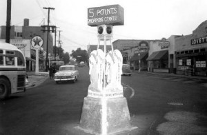 Five Points intersection in 1953